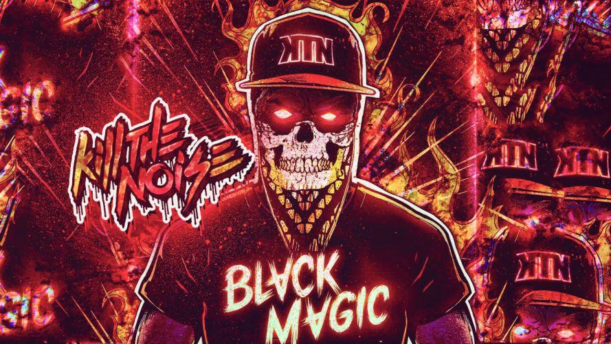 Kill the Noise Skull dark horror hip hop rap eyes demon art album cover wallpaper