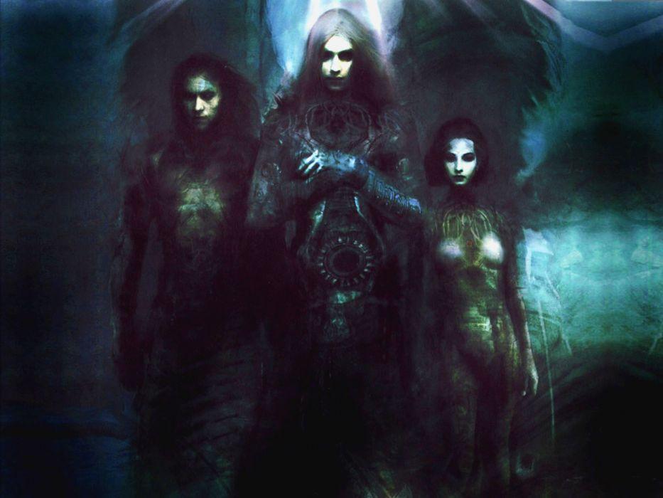 Dark Angel Ghosts gothic fantasy art dark horror occult men women girl wings wallpaper