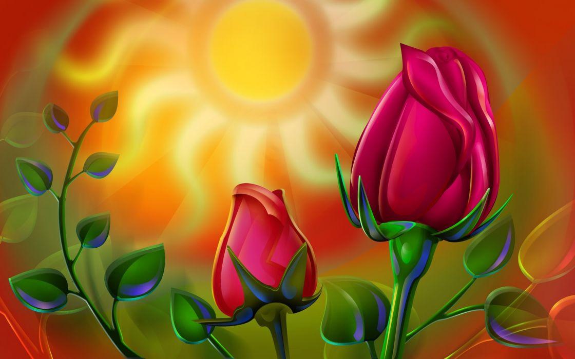 art vector summer sun wallpaper