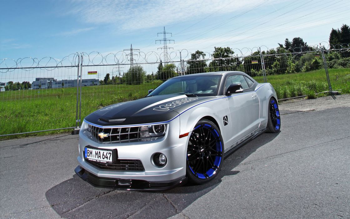 Chevrolet Camaro 2012 chevy muscle cars tuning roads wallpaper