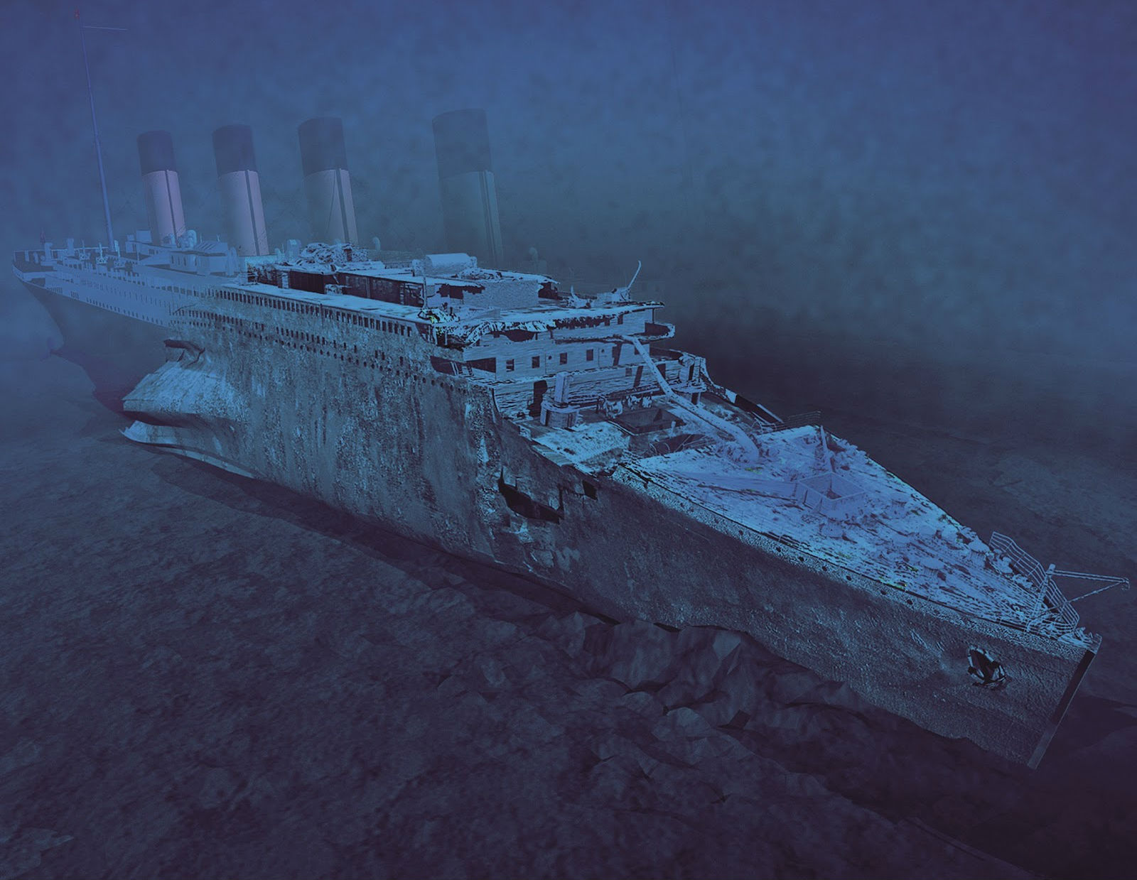 Titanic 3d cg digital art shipwreck disaster ocean sea ...