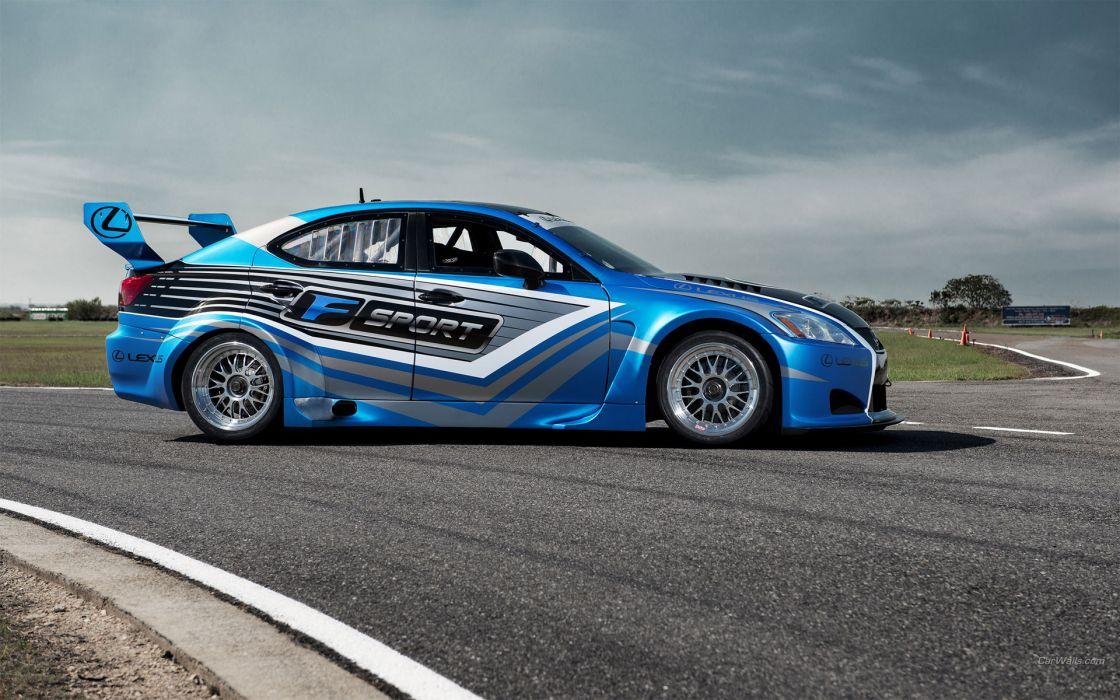 2013 Lexus IS-F V8 Superstar International Series racing race track tuning wallpaper