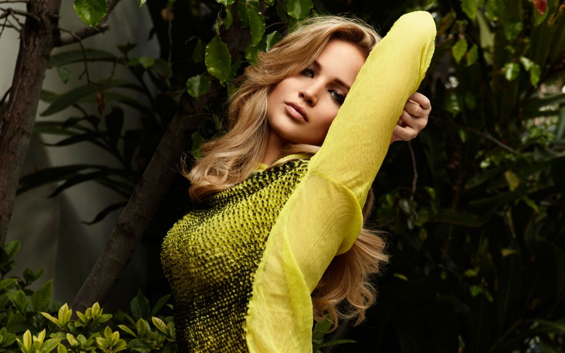 Jennifer Lawrence actress celeb women models blondes sexy babes cleavage boobs face pov wallpaper