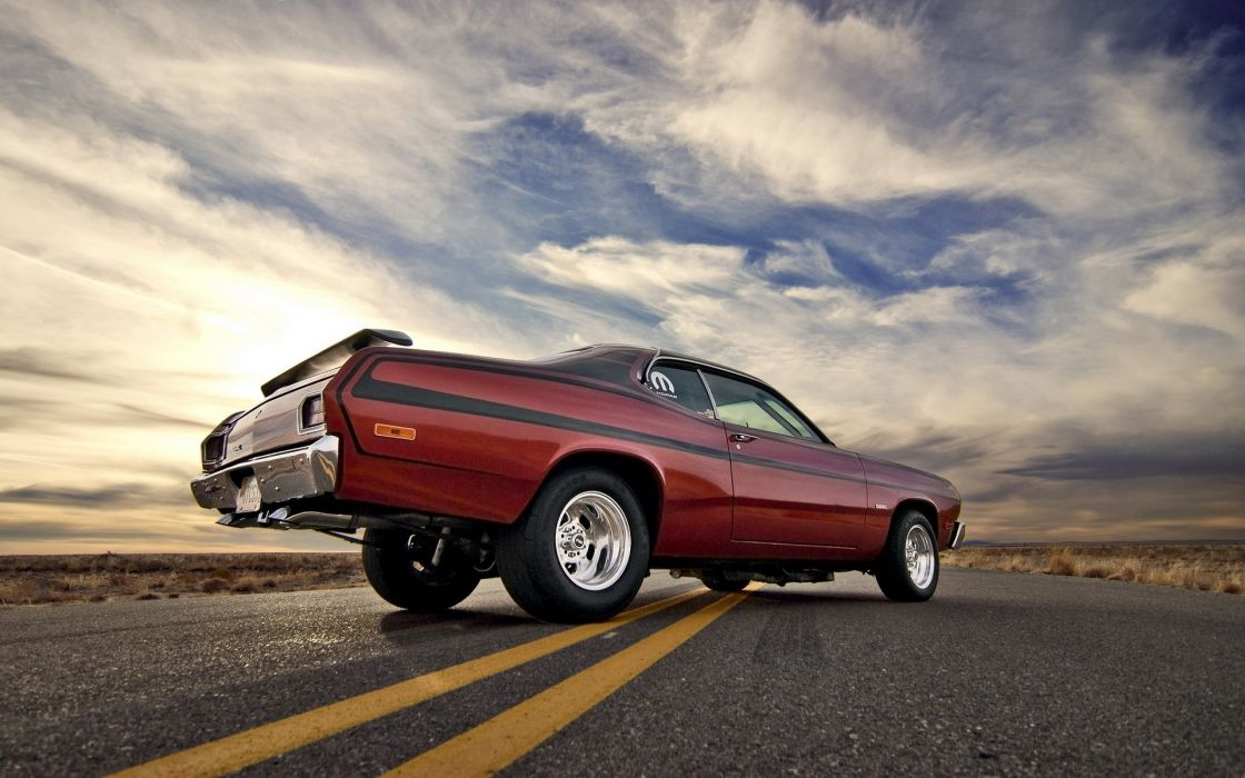 Dodge Duster muscle cars classic hot rods roads wallpaper
