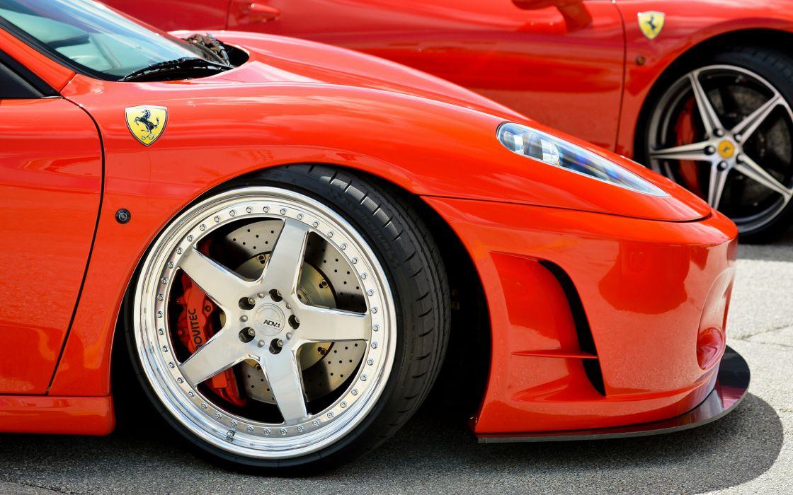 Ferrari F430 Wheel supercars exotic red wallpaper