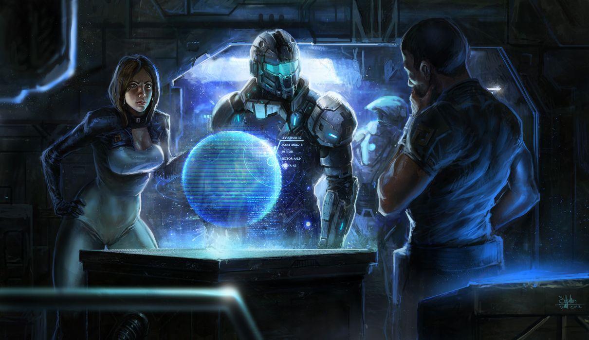 Mass Effect sci fi science futuristic women warriors soldiers wallpaper