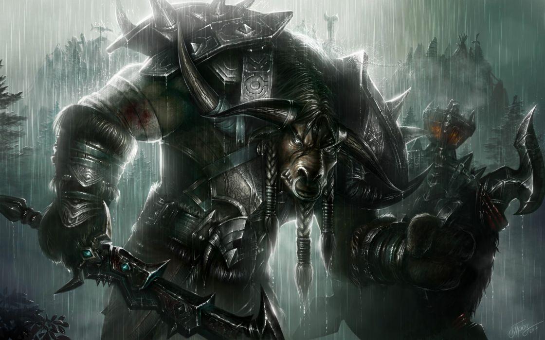 World Of Warcraft fantasy art warriors armor weapons wallpaper