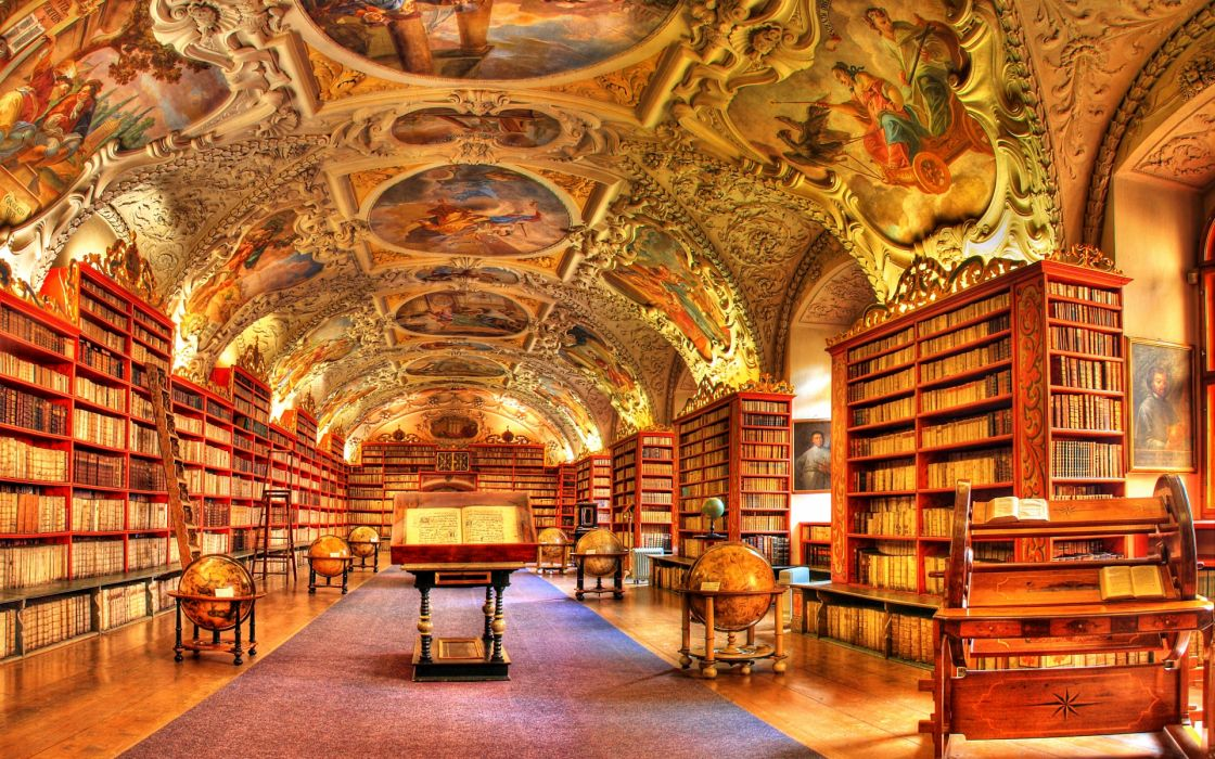hdr photography library books interior design wallpaper