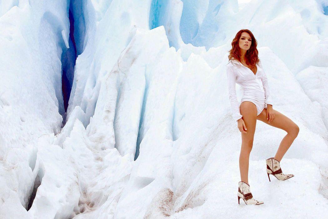 Florencia Salvioni women fashion models redheads sexy babes legs wallpaper