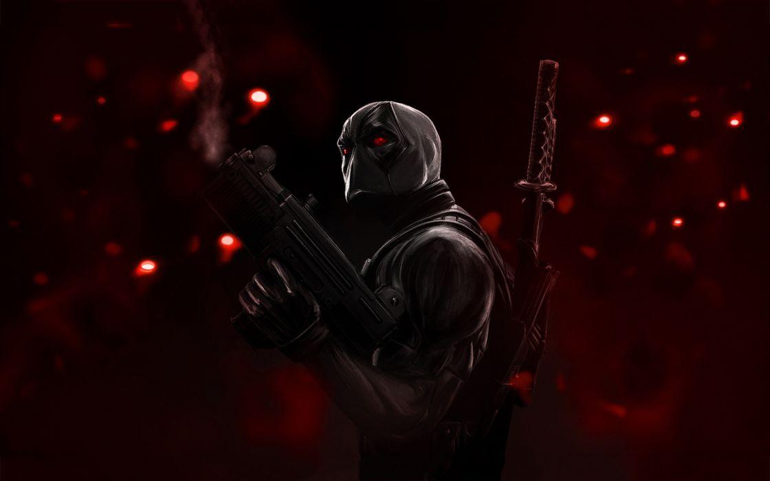 sci fi science aliens weapons guns machine assault rifles assassin dark warriors wallpaper