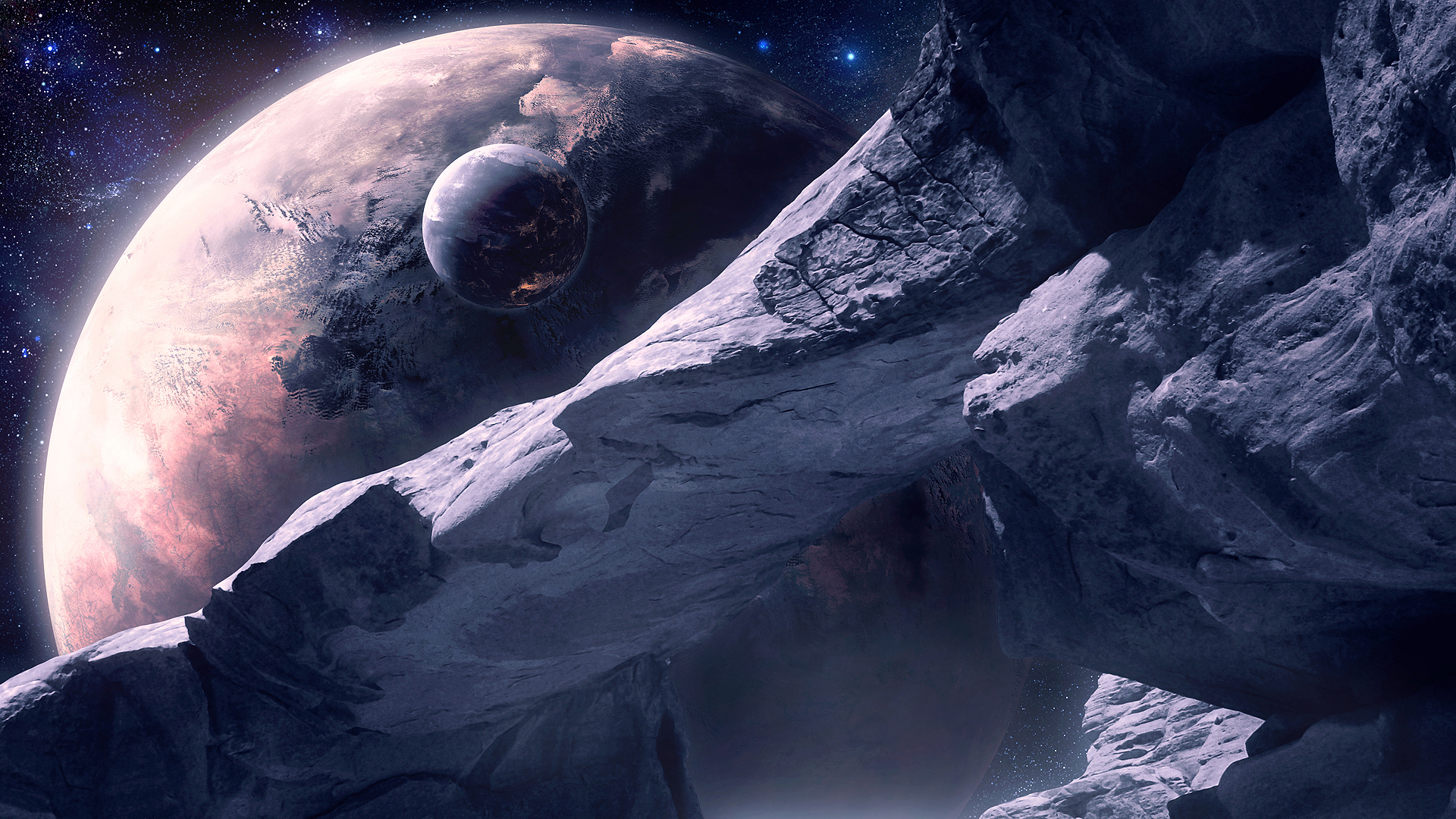 Sci fi science fiction planets landscapes stars outer moon ...