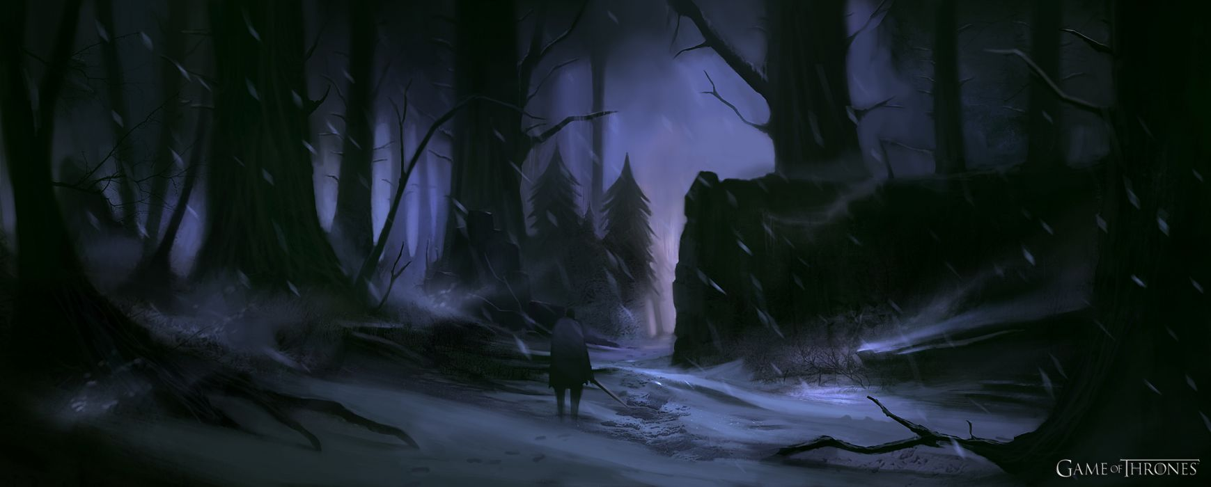 Game Of Thrones Fantasy Art Trees Forest Wallpaper 2544x1024