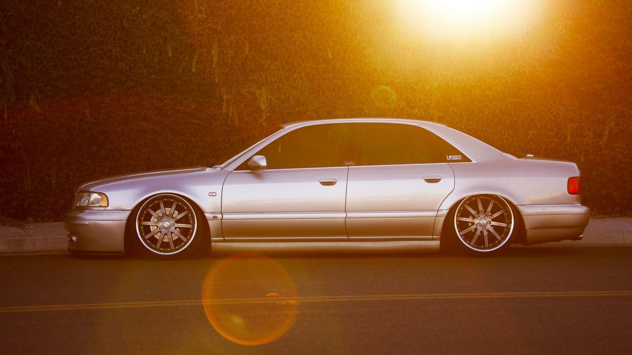 Audi tuning sunlight roads wallpaper