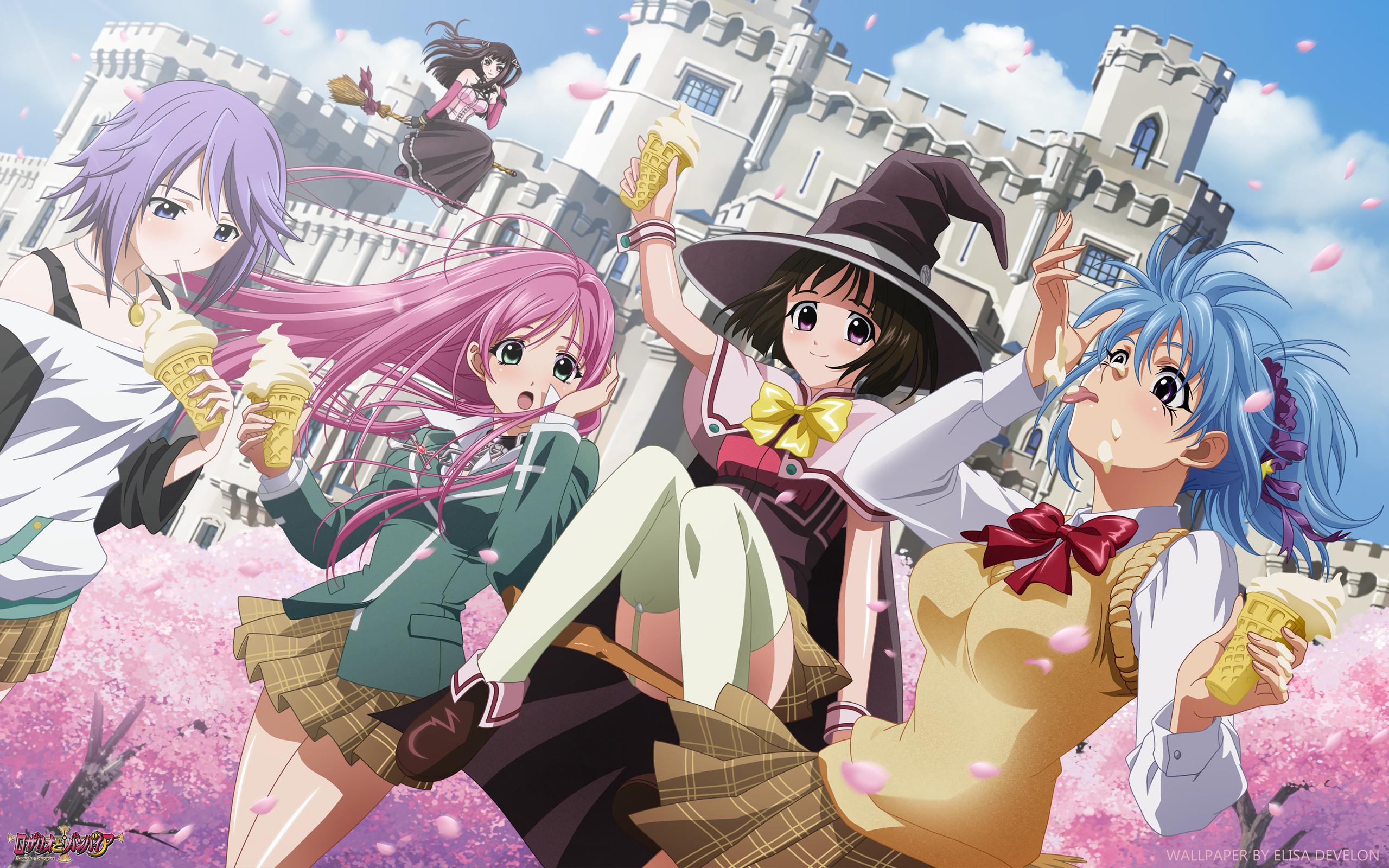 Image Result For Anime Wallpaper Rosario Vampire