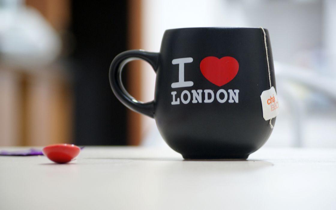 bokeh coffee tea london love cup wallpaper