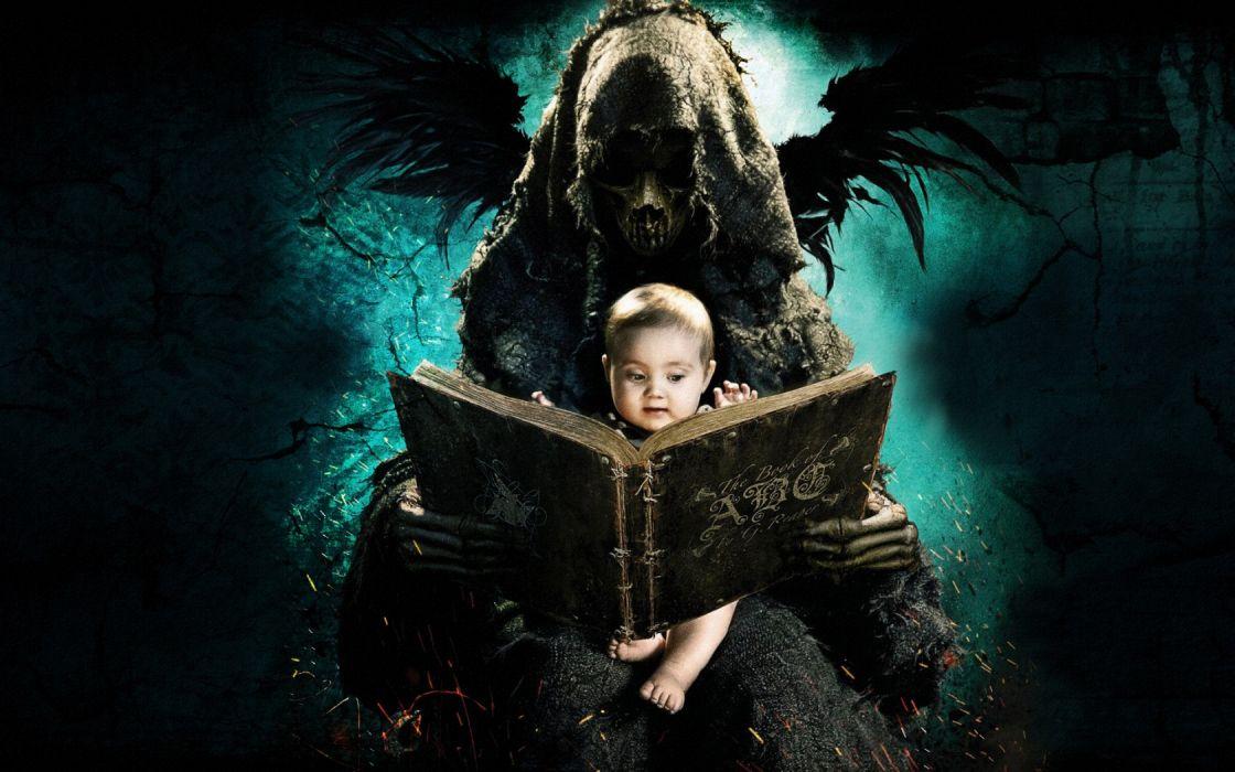 The ABCs of Death dark horror grim reaper death babies children books demon fantasy art cg digital wallpaper