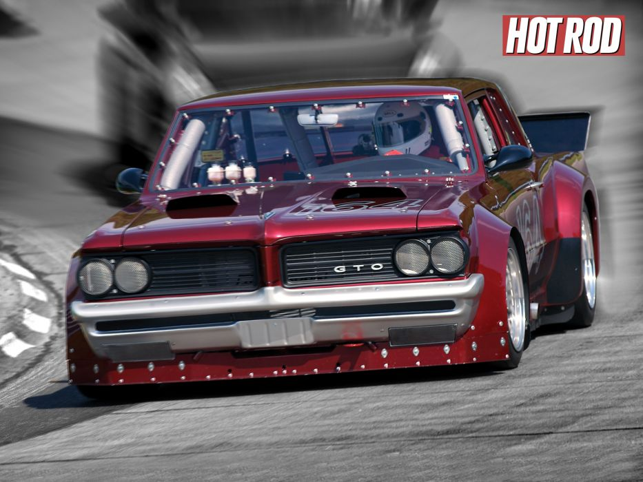 Pontiac GTO muscle cars hot rod racing race track wallpaper