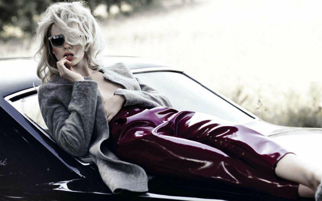 sophie srej women fashion glamour models blondes sexy babes wallpaper