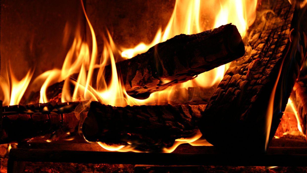 fire flames coals wallpaper