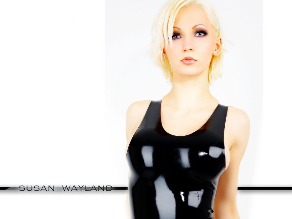 susan wayland fetish latex boobs cleavage women models glam blondes sexy babes face pov eyes wallpaper