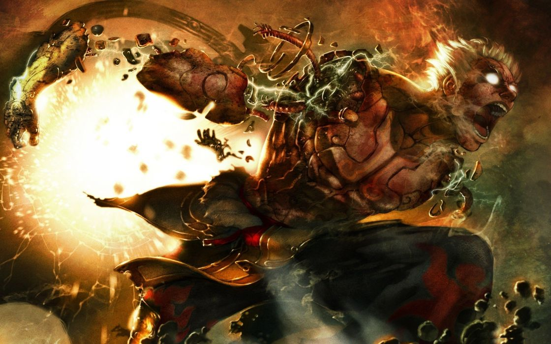 asuras wrath fantasy art monter creatures dark wallpaper