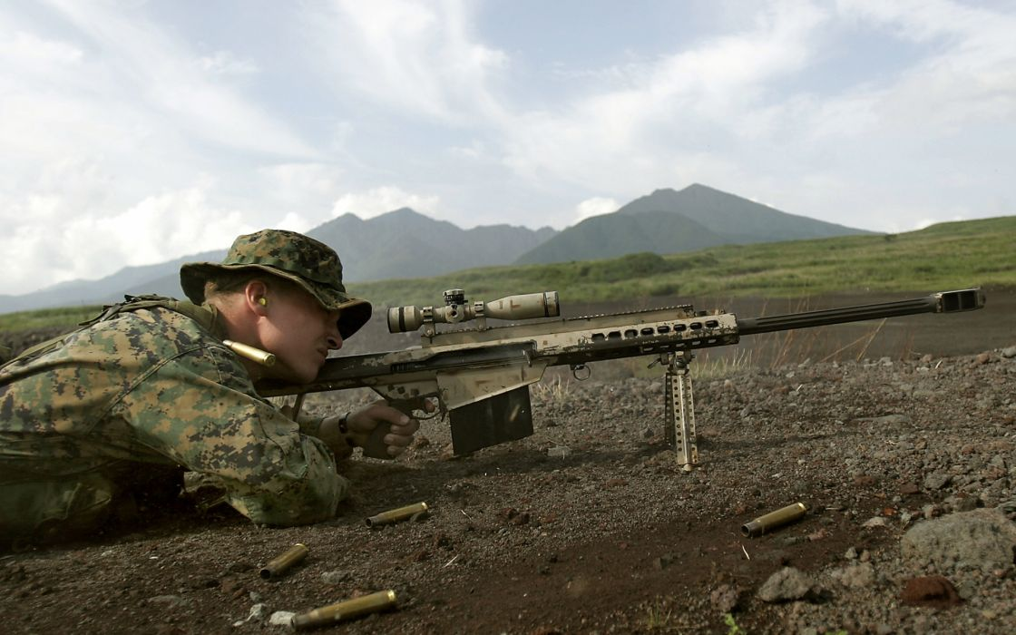 military sniper weapons guns rifles warriors soldiers landscapes wallpaper