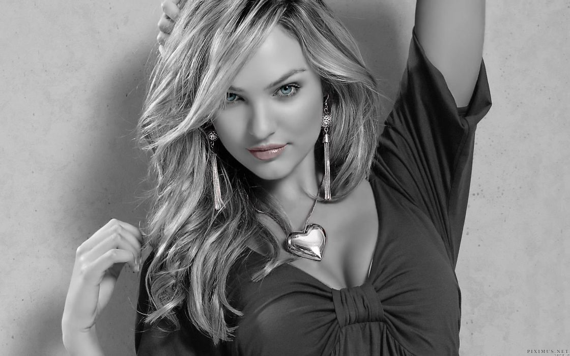 Candice Swanepoel selective color women models blondes fashion glamour sexy babes face eyes pov wallpaper