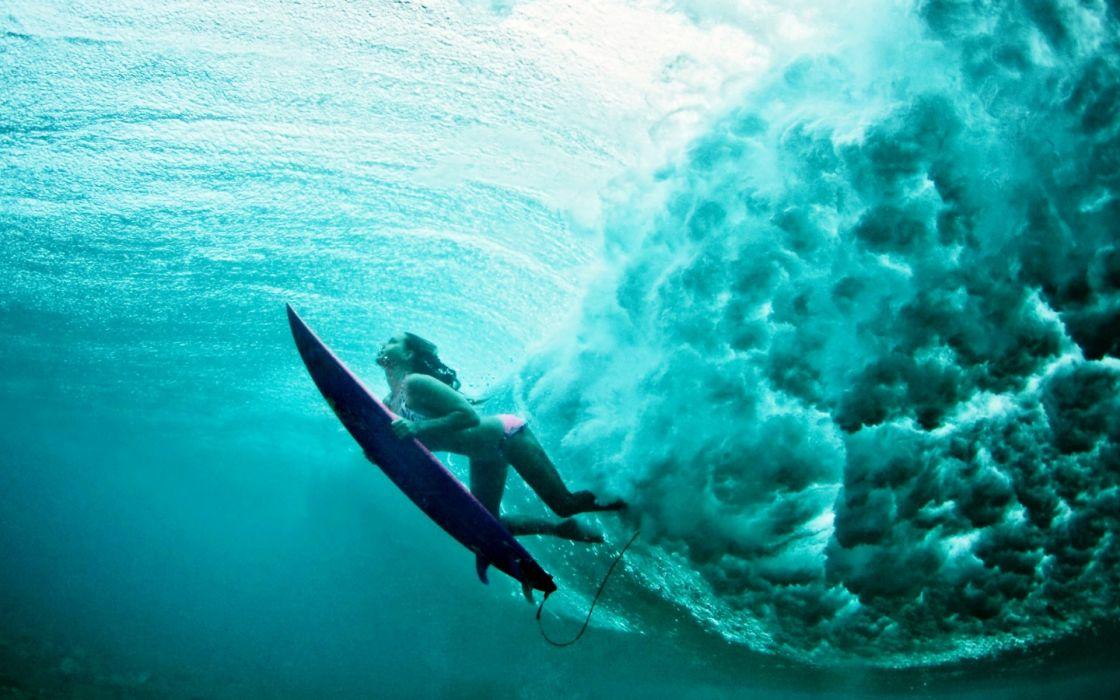 surfing women sexy babes ocean sea wallpaper