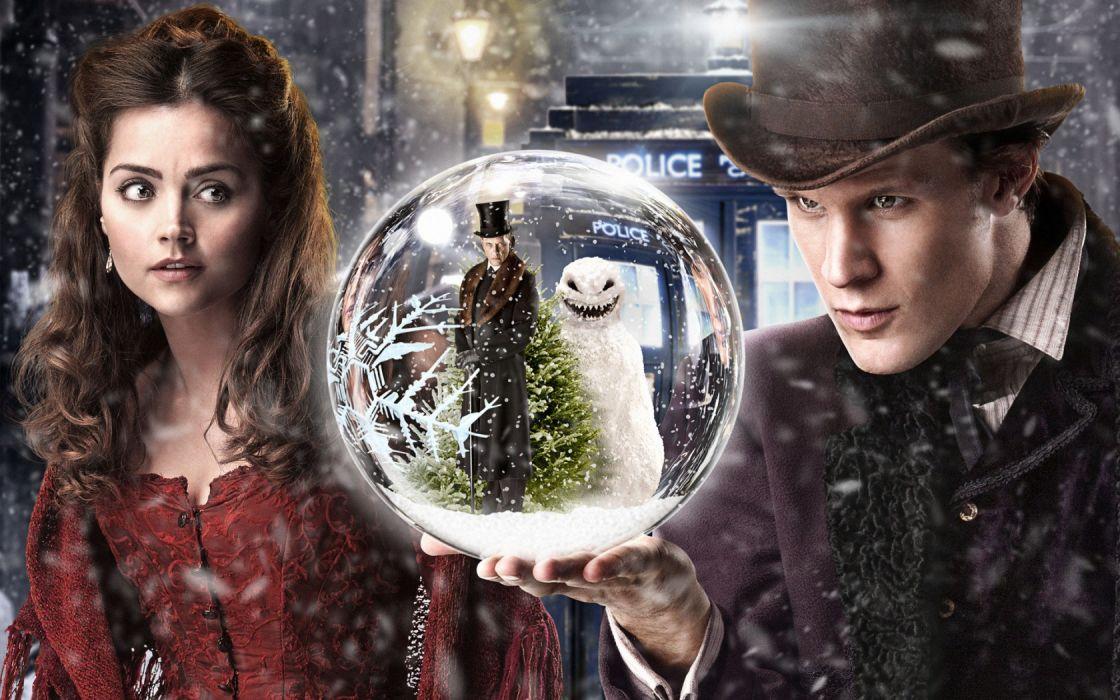 Doctor Who snowman Matt Smith Jenna-Louise Coleman wallpaper