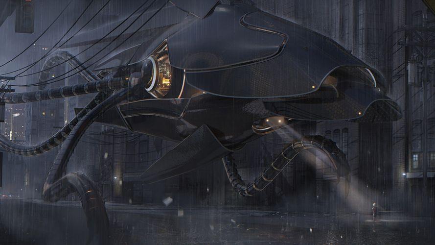 original mech mecha sci fi science weapons robot futuristic wallpaper