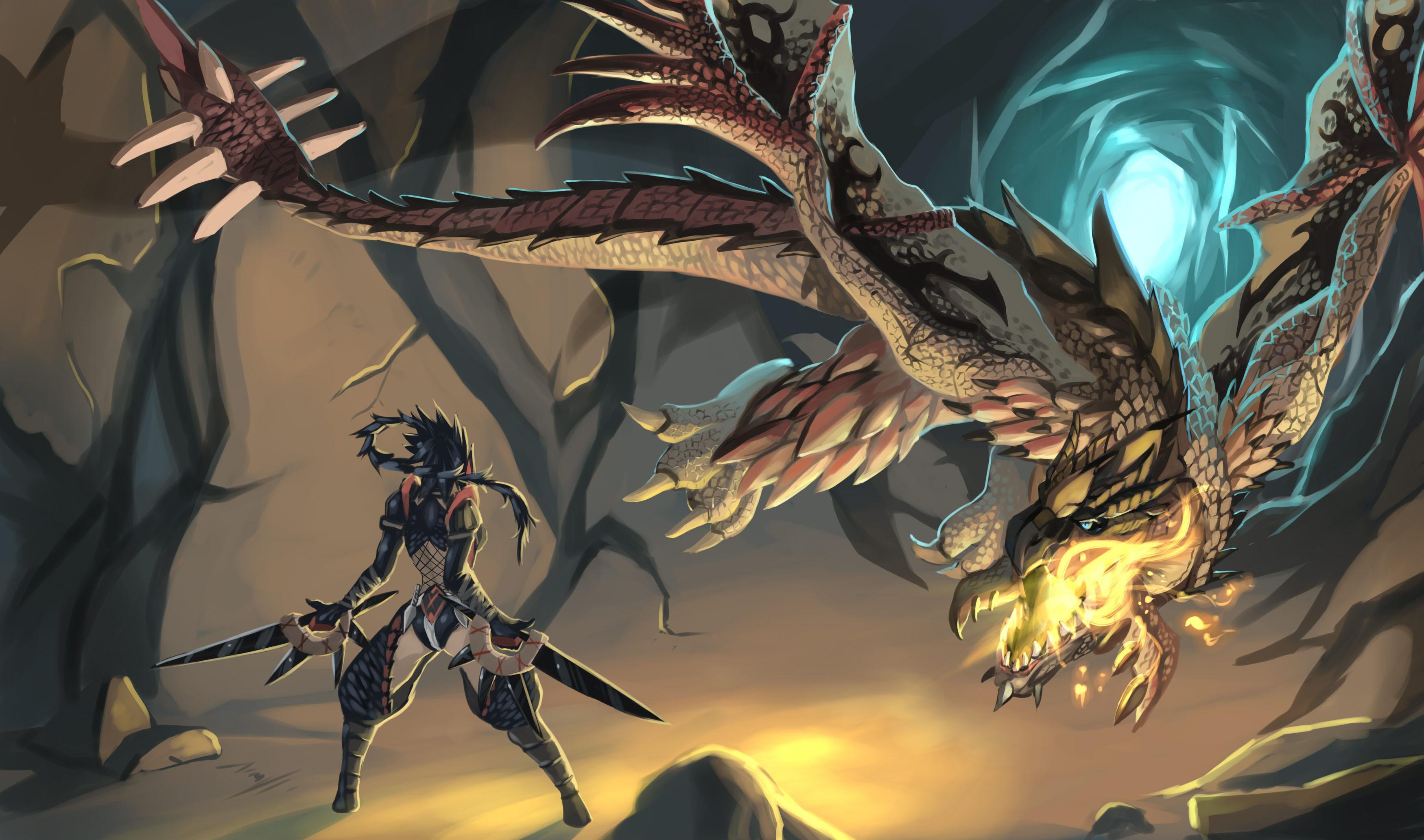 Monster Hunter Anime Wallpaper  3500x2066 34514