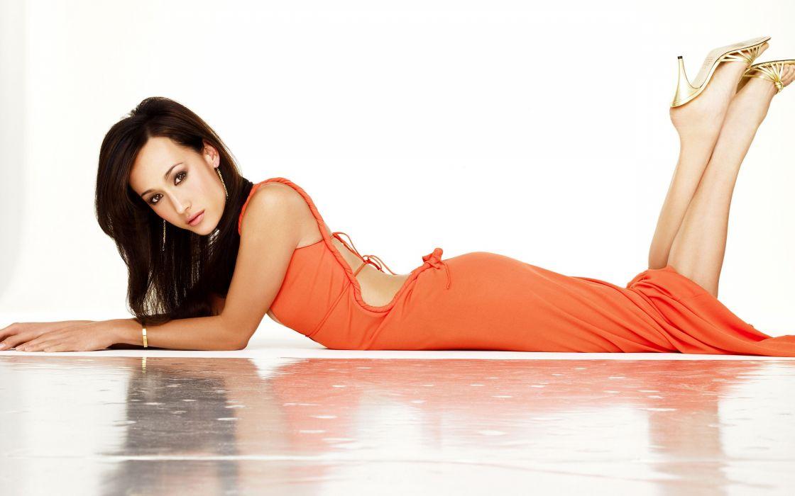 Maggie Q actress asian oriental women models fashion brunettes sexy babes wallpaper