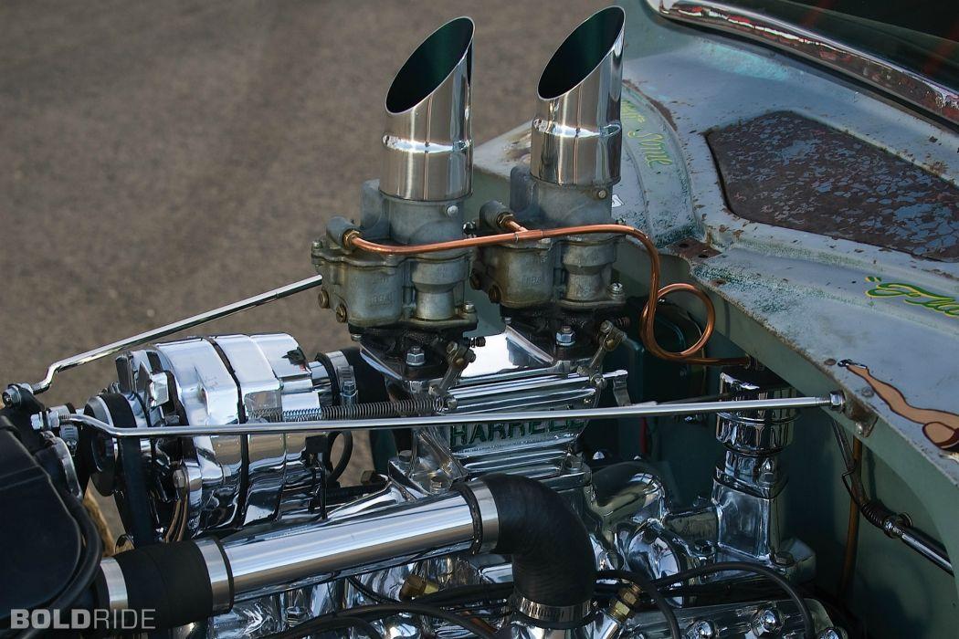 1935 Ford V8 Rat Rod Pickup engines rat rod hot retro classic wallpaper