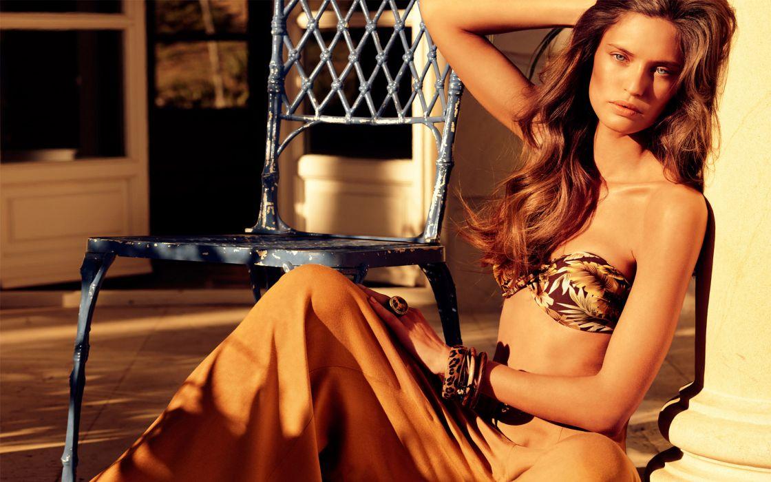 Bianca Balti women fashion glamour models bikini swimwear sexy babes brunettes wallpaper