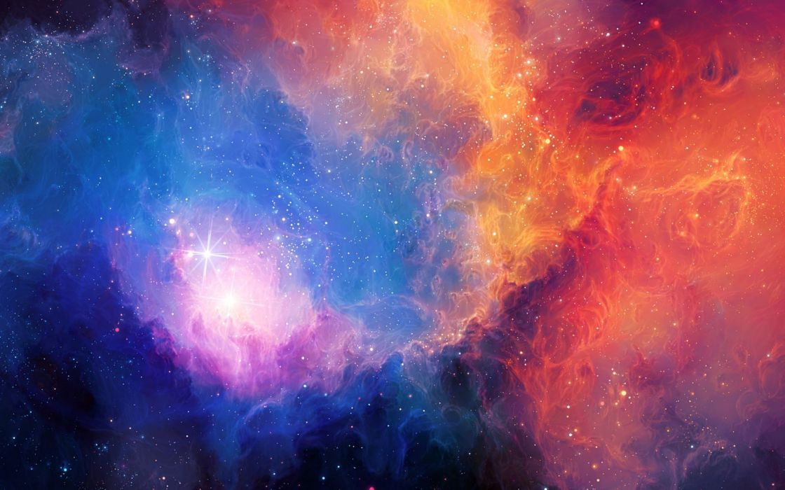 art sci fi science nebula stars abstract wallpaper
