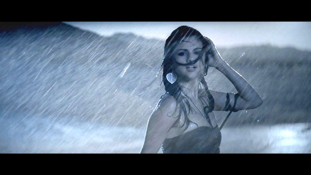 Selena Gomez women models celeb brunettes sexy babes rain wallpaper