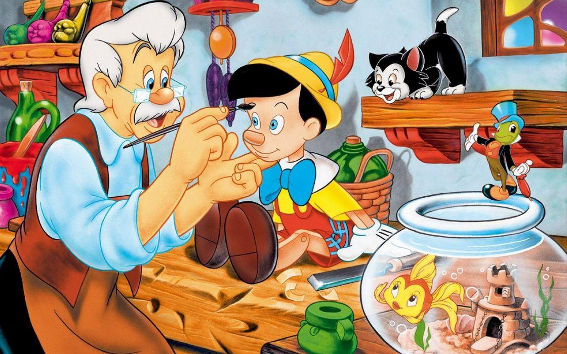 cartoons disney company pinocchio movies wallpaper