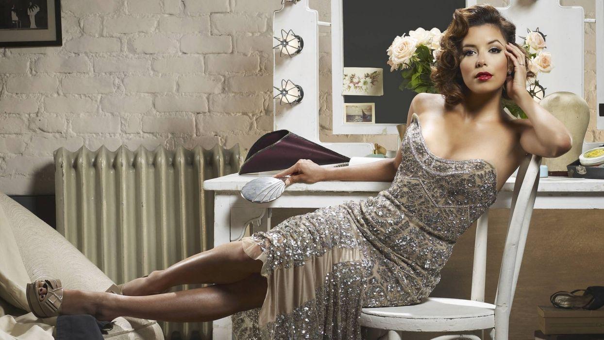 Eva Longoria actress celeb reality women models brunettes sexy babes boobs cleavage wallpaper