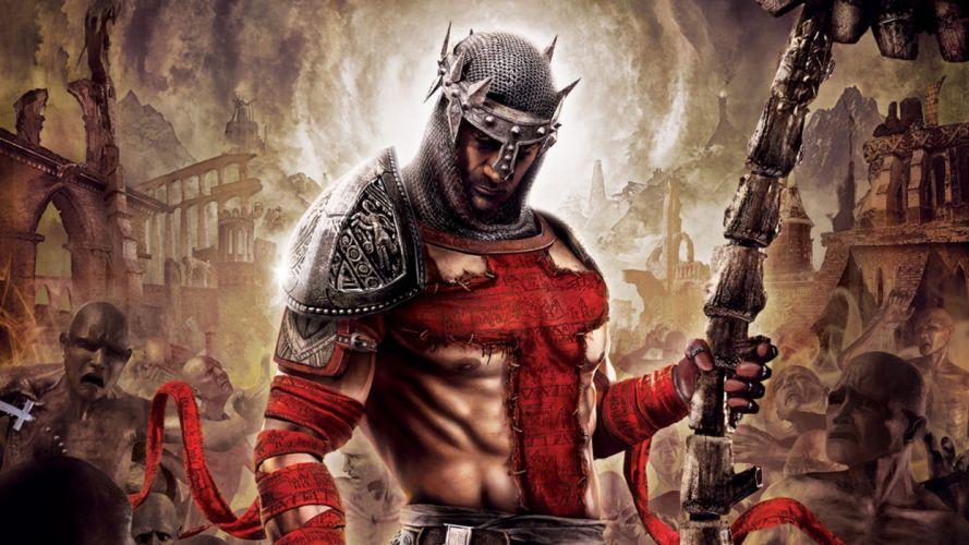 Dante's Inferno fantasy art warriors cities wallpaper