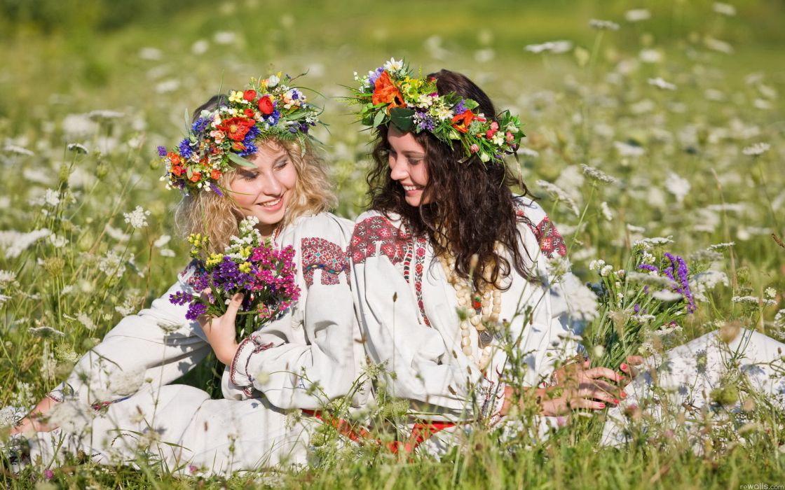 nature landscapes flowers fields women adult models blondes brunettes babes mood wallpaper