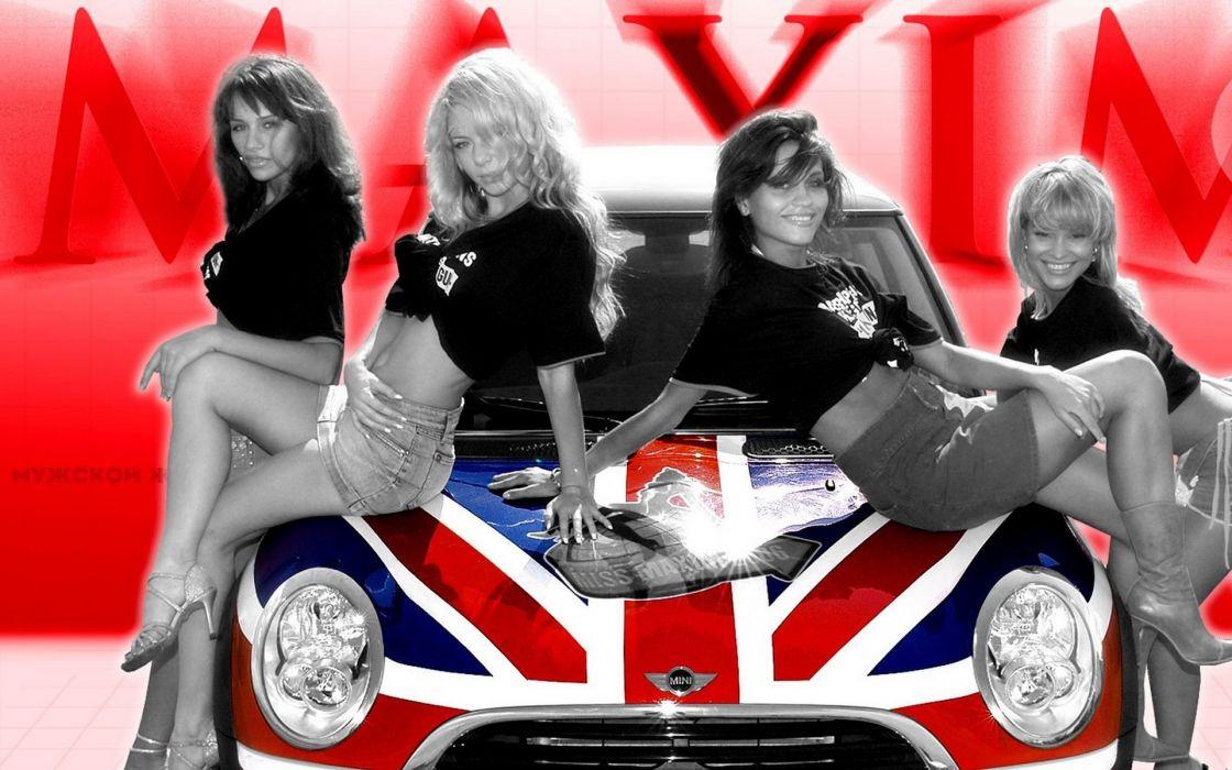 Maxim Magazine women models blondes brunettes sexy babes mini british wallpaper