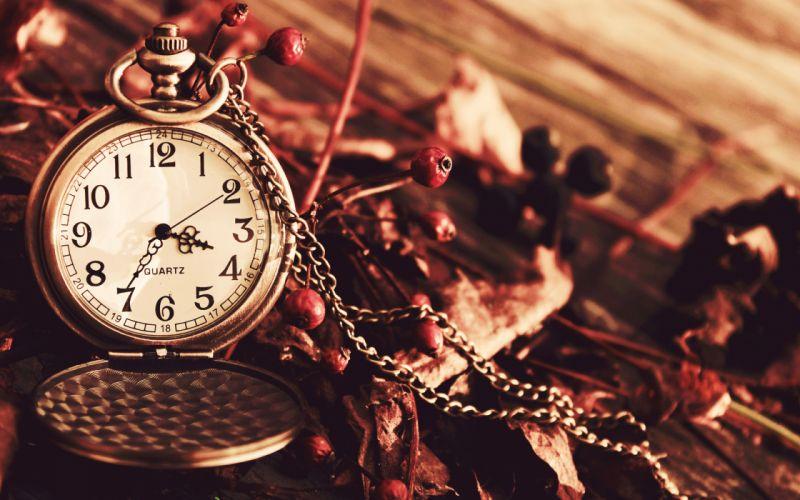 bokeh clock watch time chain mood wallpaper