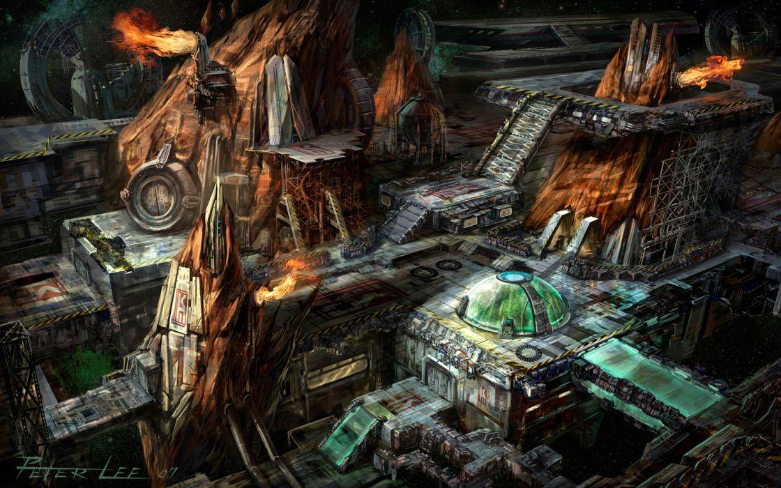 Starcraft 2 futuristic sci fi science battle destruction fore weapons warriors wallpaper