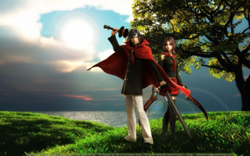 Final Fantasy Type-0 Game Rem Tokimiya Character Machina Kunagiri wallpaper