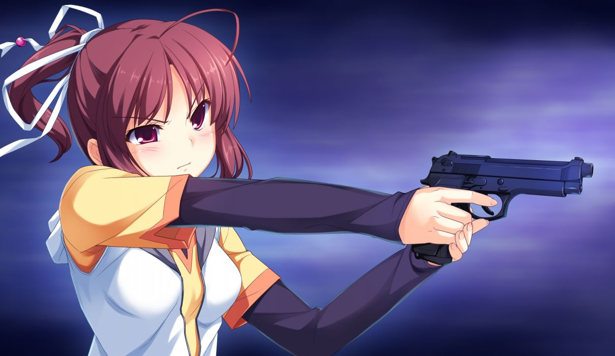 SINCLIENT girls weapons hundguns pistols wallpaper