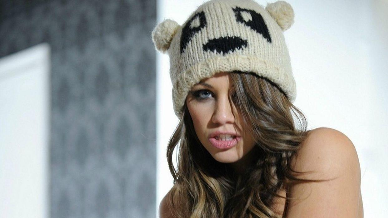 Emma Frain adult women actress models brunettes sexy babes face eyes lips pov wallpaper
