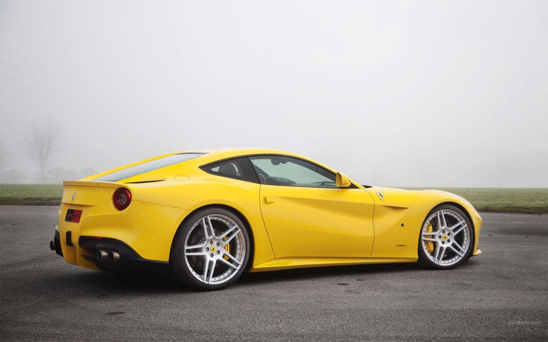Ferrari F12berlinetta 2012 supercars yellow wallpaper
