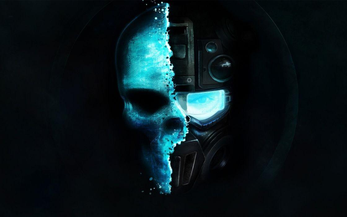 Ghost Recon Future Soldier dark horror skulls face sci fi science futuristic wallpaper