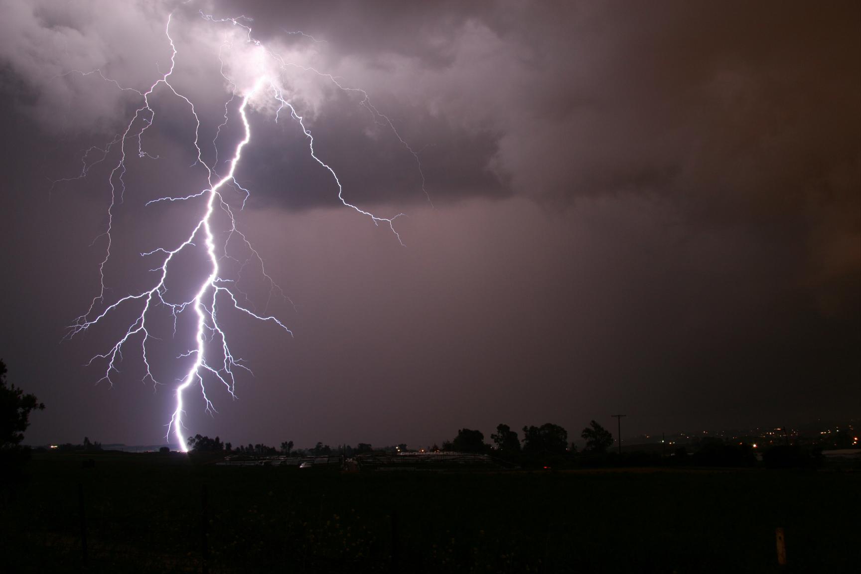 Lightning storm rain night clouds wallpaper | 1728x1152 ...