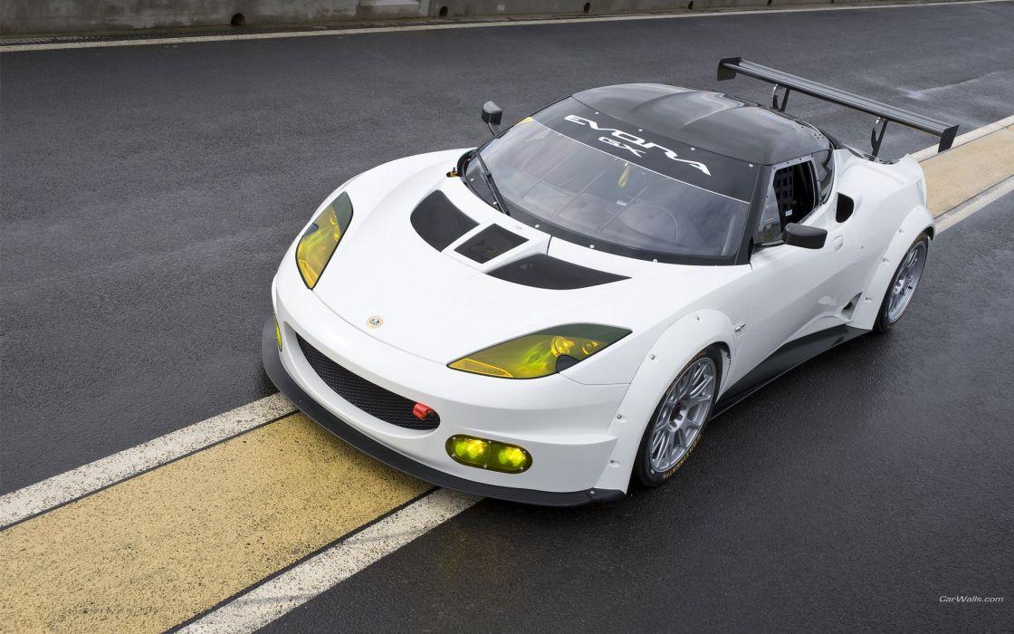 Lotus Evora GX 2012 race track racing supercars wallpaper